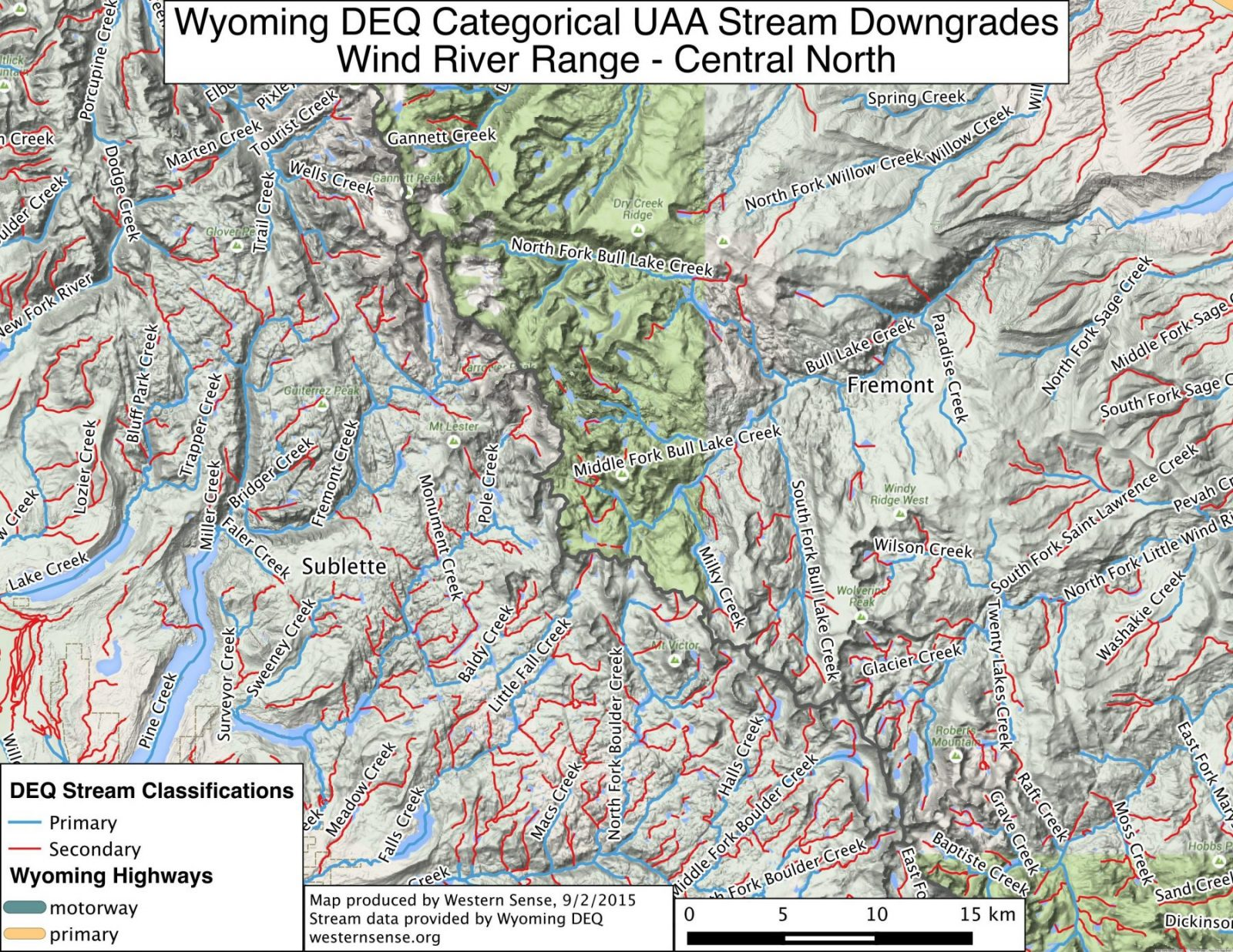 Wind River Range Wyoming Map.Don T Give Up On Clean Water Maps Of The Reclassified Streams How