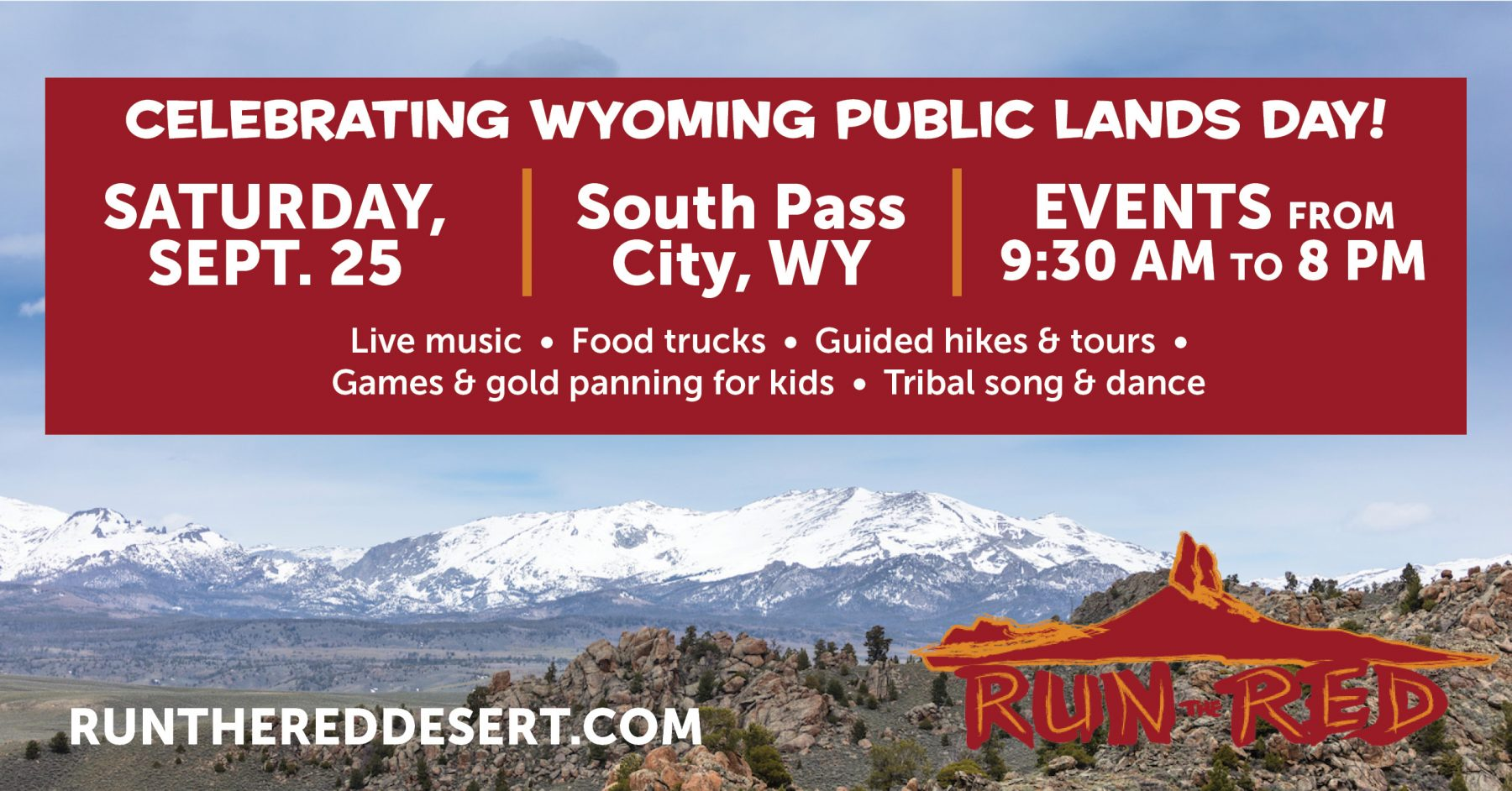 Run the Red to Celebrate Wyoming Public Lands Day with Community Events in South Pass City